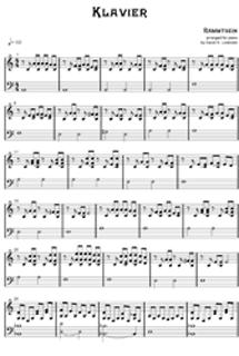 rammstein klavier text