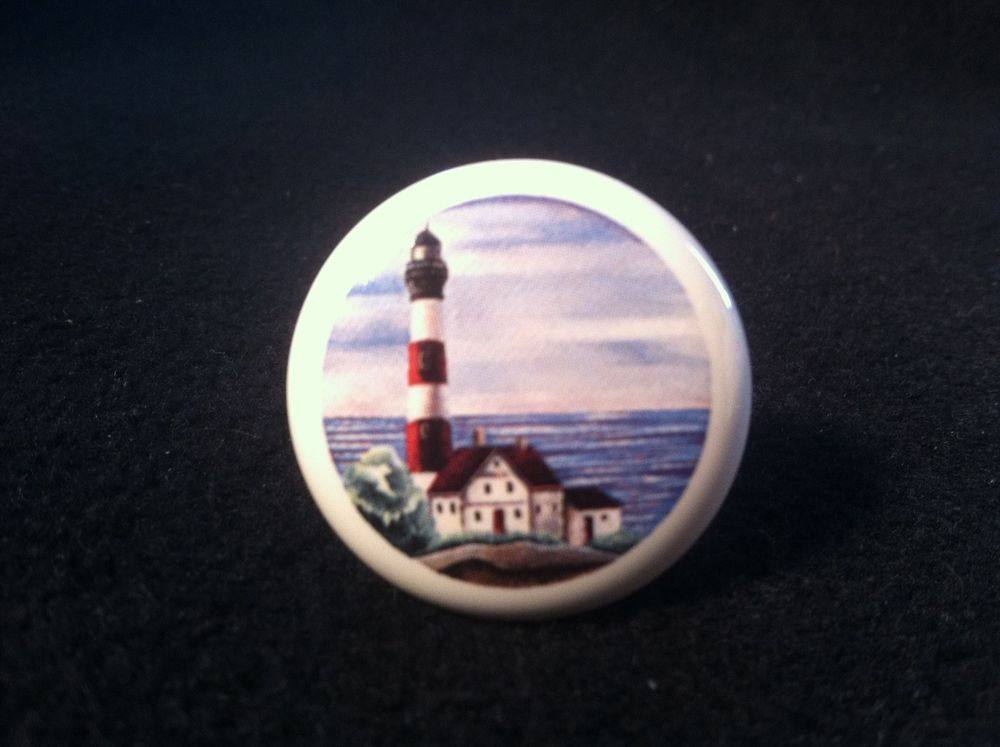 LIGHTHOUSE CERAMIC KITCHEN DRAWER CABINET KNOB PULL with bolts ...