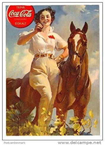 Girl & Horse, Classic Coca-Cola ADVERTISING | Coca Cola