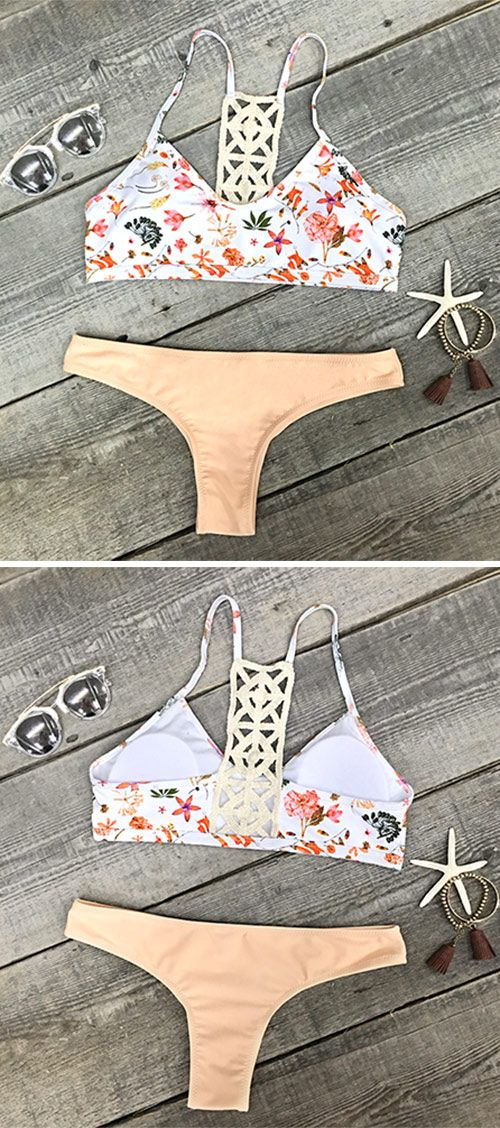 Ready for surfing with our brand new Crochet Bikini Set. The amazing piece is supportive and comfortable to show off your perfect shape. Breezy like Sunday afternoon on the beach,all eyes on you. Cupshe never lets you down. Go for it!