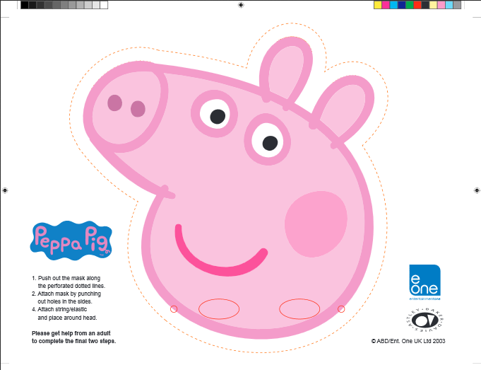 Peppa Pig Party Mask Free Printable Peppa Pig Birthday Party, Pig  Birthday Party, Peppa Pig Party