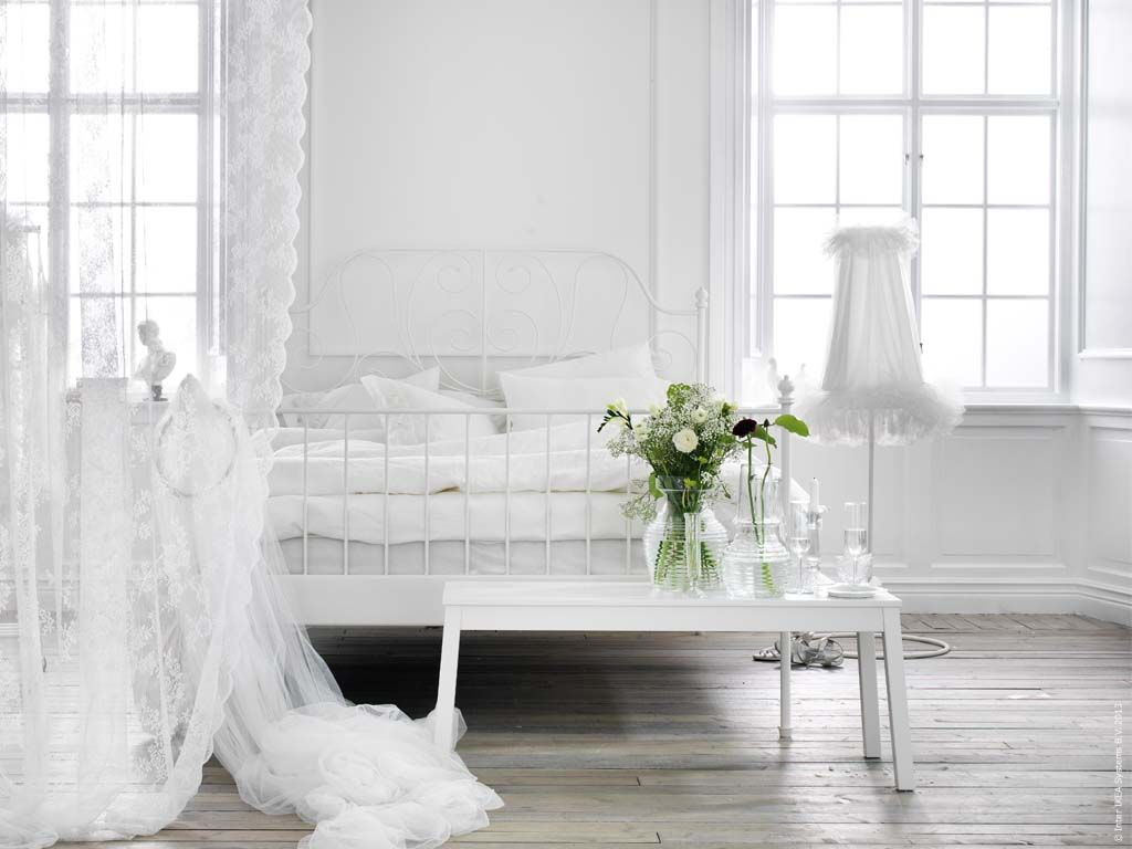 All white bedroom ikea - Liking The All White Dreamy Look For Bedrooms Via Ikea
