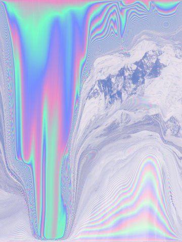 Imprimé hologramme argenté multicolore