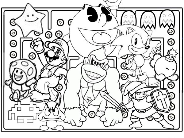Cool Video Game Character Drawings Google Search Coloring Pages Monster Coloring Pages Free Online Coloring