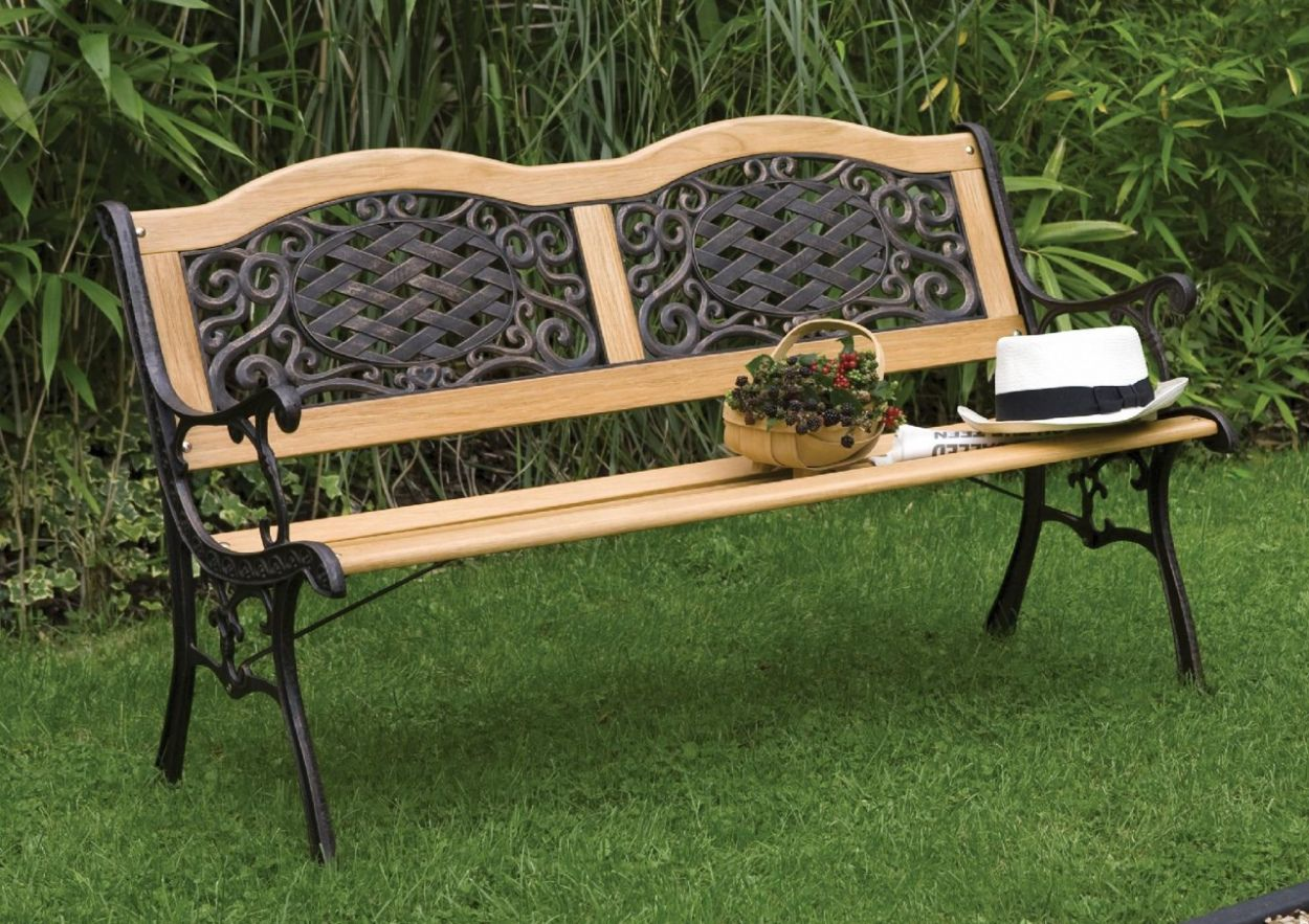 Wrought Iron And Wood Patio Furniture Best Color Furniture For You Check More At Metal Garden Benches Concrete Garden Bench Metal Garden Furniture