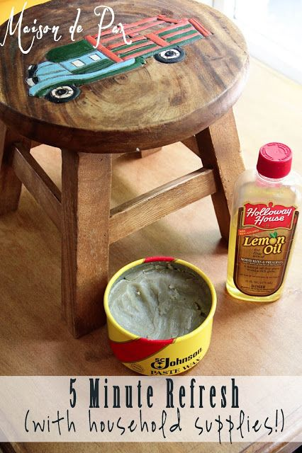 5 Minute Refresh For Worn Out Wood Wood Furniture Makeover Diy