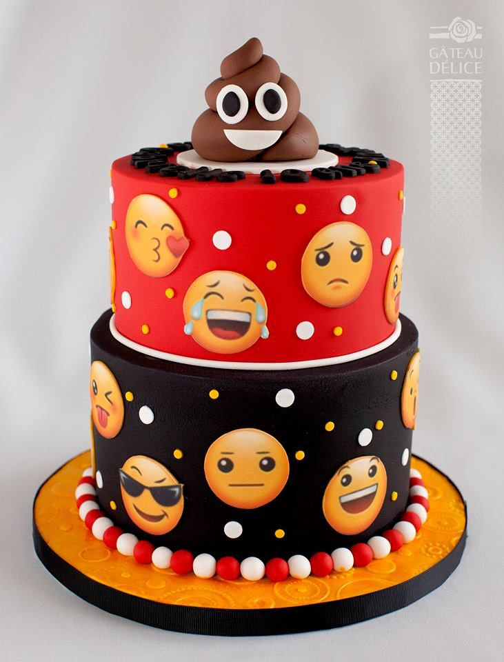 Gâteau Délice Party Ideas Emoji Cake Teen Cakes Birthday Cake