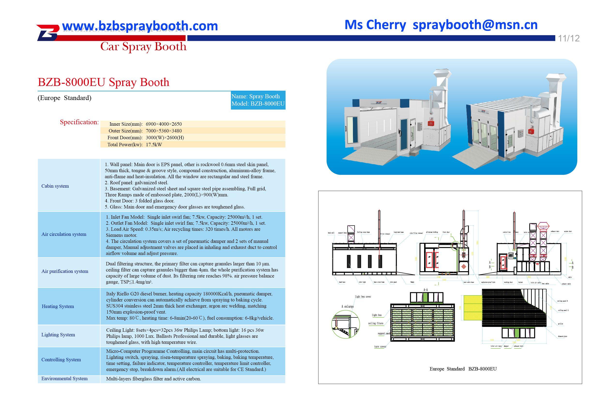 bzb 8000eu germany spray booth europe