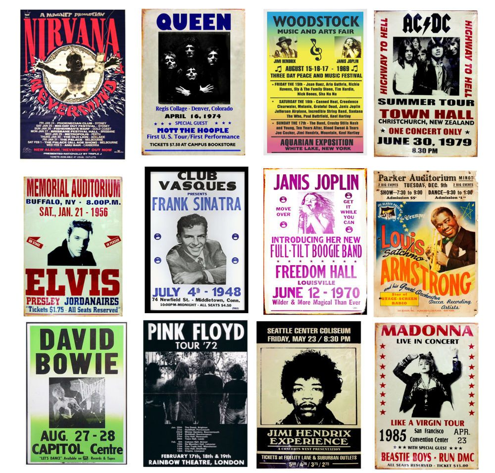Vintage 80s Music Posters