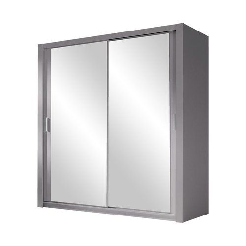 Ordu 2 Door Sliding Wardrobe Selsey Living Finish: Grey, Size: H215 x W150 x D62cm, Interior Option: Standard