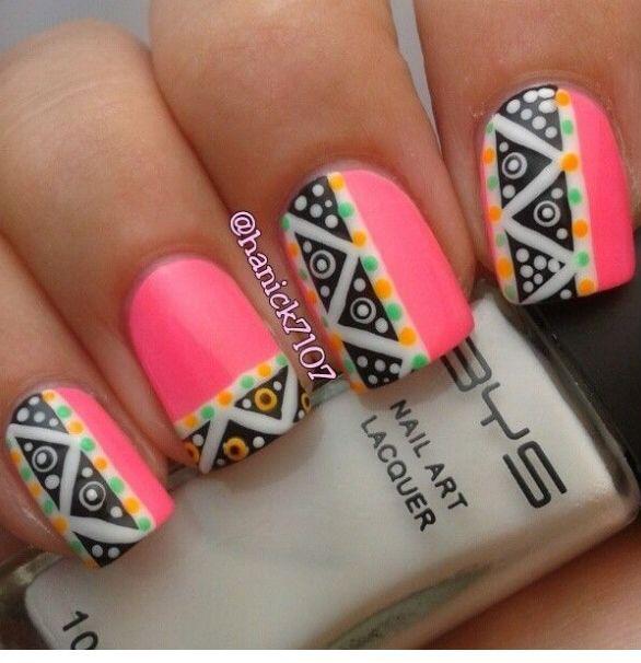 Decoración: Uñas Largas ♛ | uñas tribal | Pinterest | Manicure ...