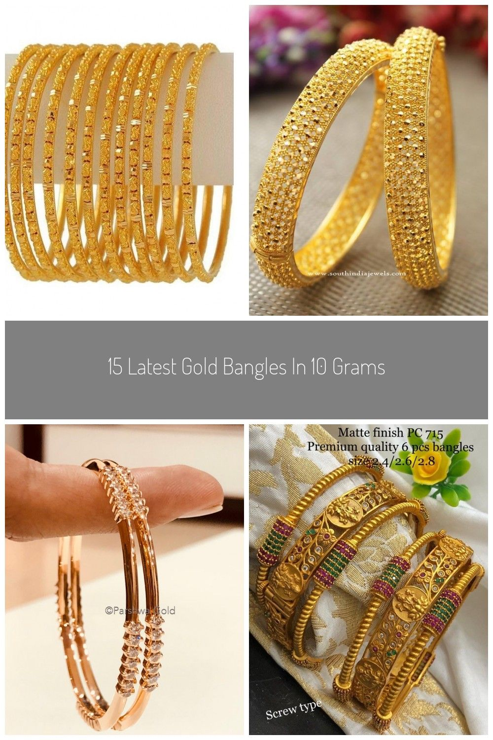 Gold Bangles In 10 Grams Gold Bangles 15 Latest Gold Bangles In 10 Grams Gold Bangles Bangles Gold Cost