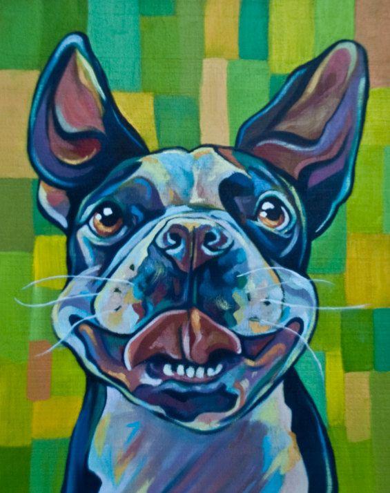 Little Custom Pet Portrait  Wood Panel  Gizmo the by EmilysPets.
