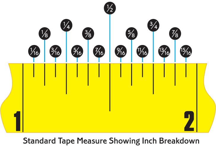 1 16 On Tape Measure