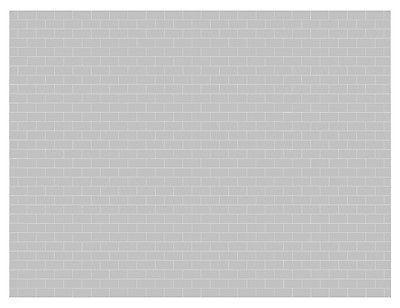 1:32 Scale Garage Diorama Workshop Grey Cinder Block Wall Horizontal  Graphics