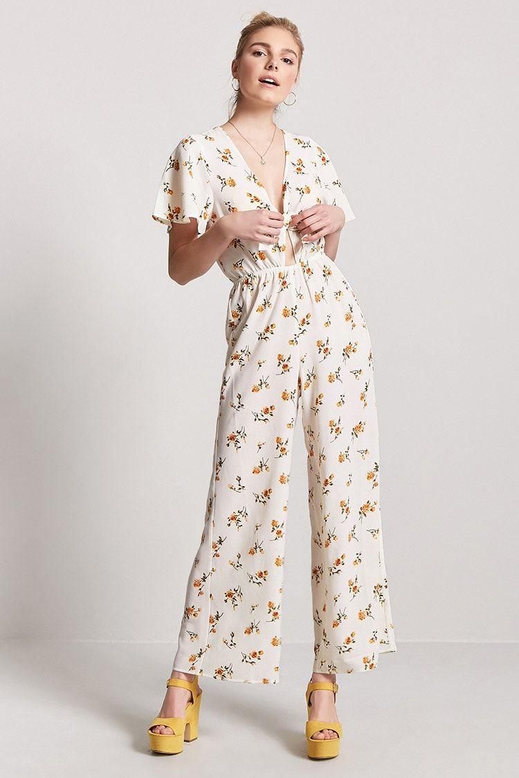 311179c0c43 Product Name Floral V-Neckline Jumpsuit