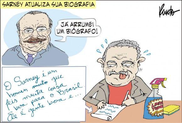 Lula assina Biografia de Sarney...