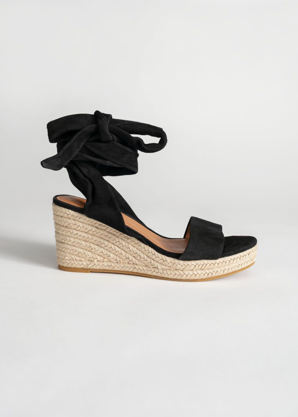 Suede Lace Up Espadrille Wedges  Lace Up Espadrille -2764