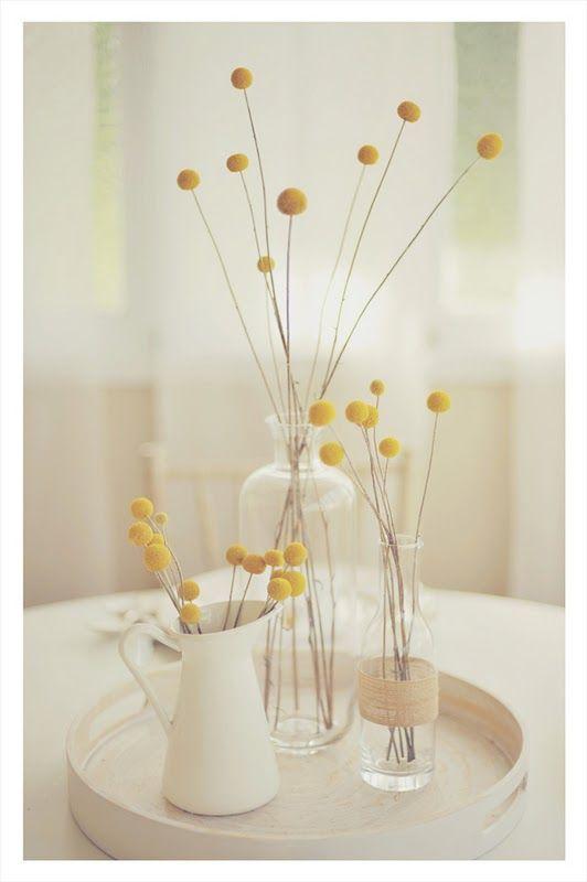 Centro de mesa simples, delicado e lindo!