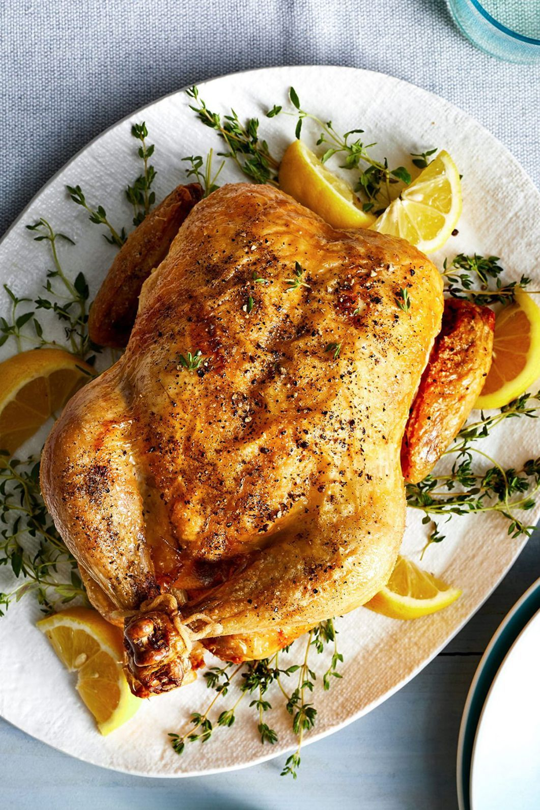 One bite of this whole air-fryer chicken and you'll be amazed at how much it tastes like your favorite store-bought rotisserie chicken. #airfryerrecipes #thebestairfryerrecipes #easyairfryerrecipes #chicken #bhg