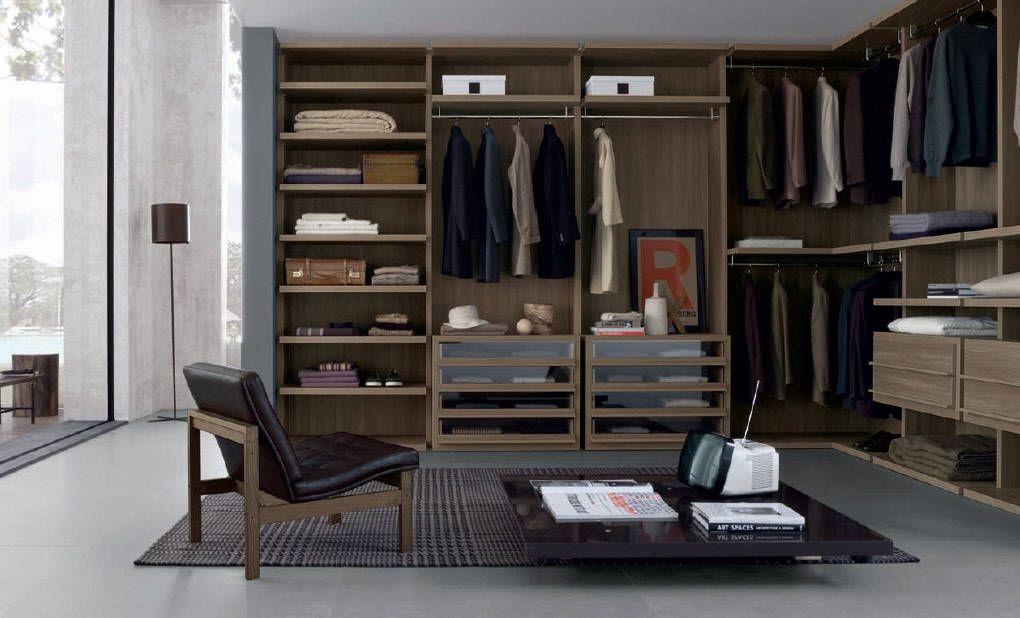 Different Brown Open Layout Wardrobe Furniture Design / Modern ...