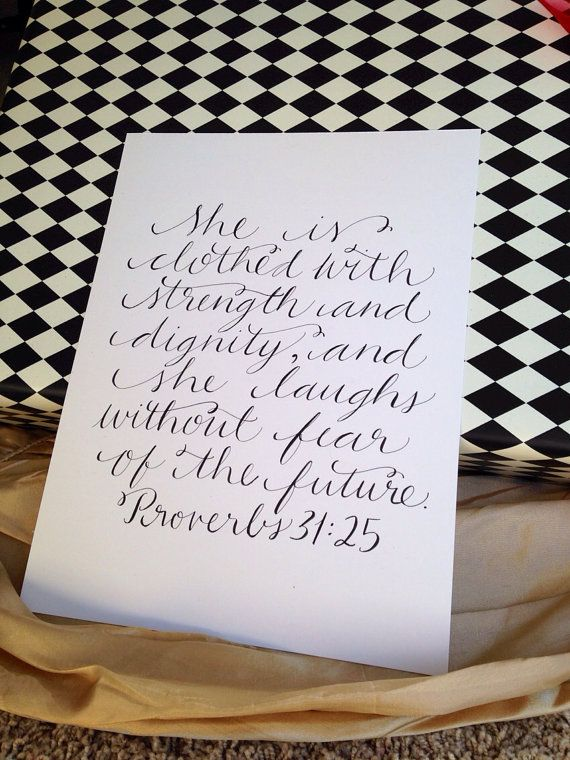 Calligraphy scripture art // hand lettered bible verse | Design