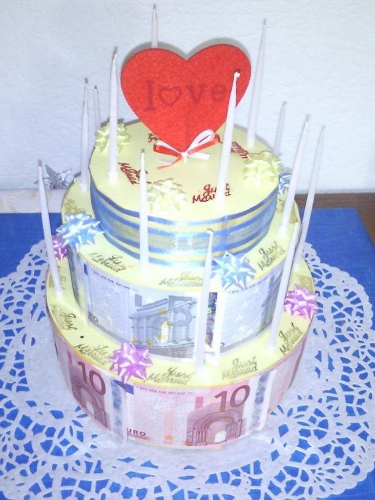 Torte geldgeschenk anleitung