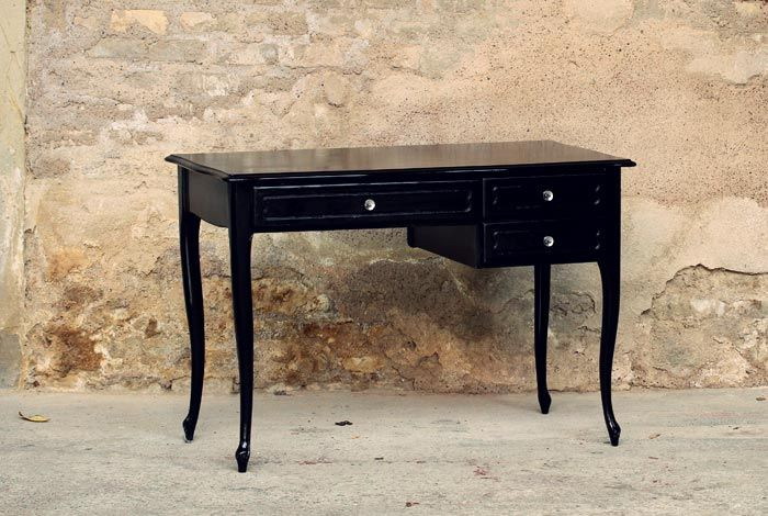 bureau ancien r nov laqu en noir bureau pinterest bureaux anciens en noir et bureau. Black Bedroom Furniture Sets. Home Design Ideas