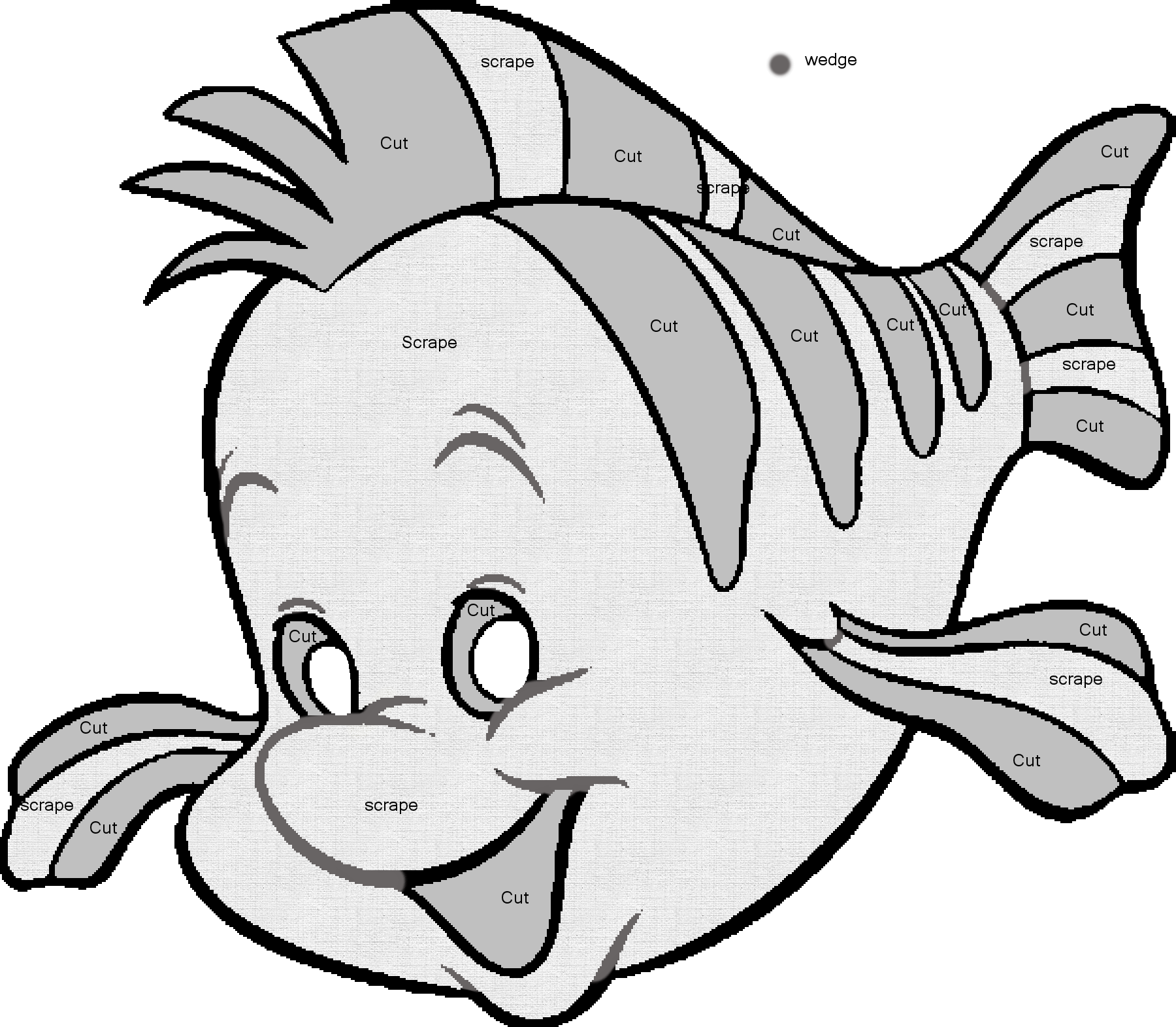 Ariel Pumpkin Carving Pattern Flounder Carving Pattern By Saiyan Silkdeviantartcom On