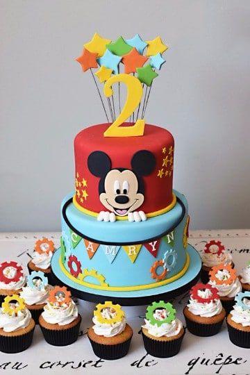 Tortas De Mickey Mouse Bebe Dos Pisos Tortas De Mickey