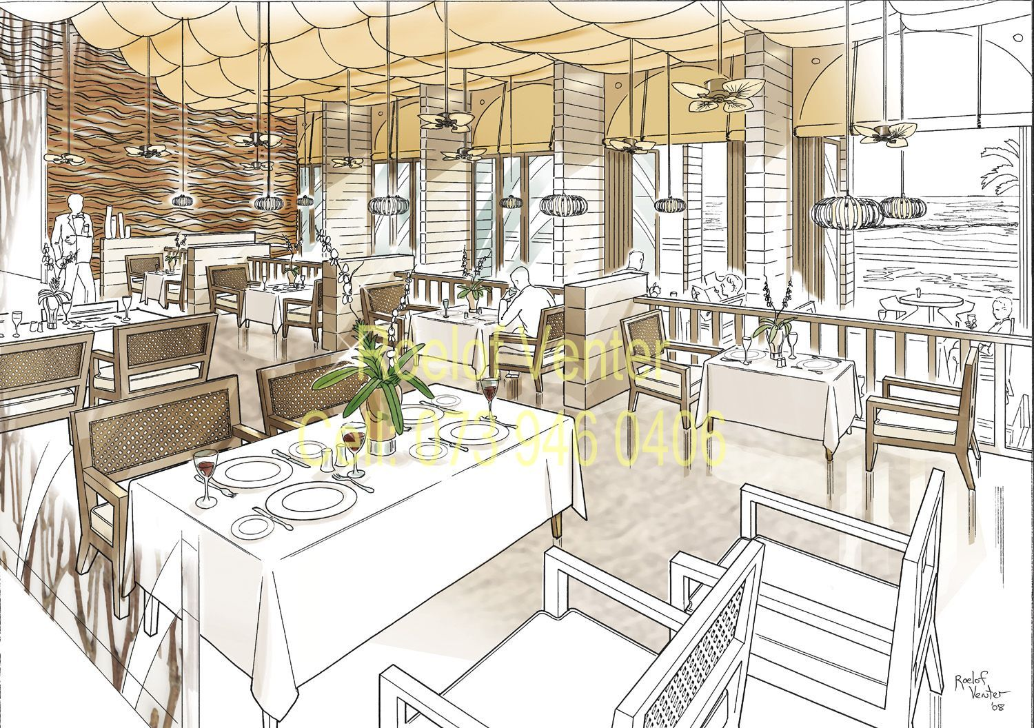 Pt perspective interior rendering for