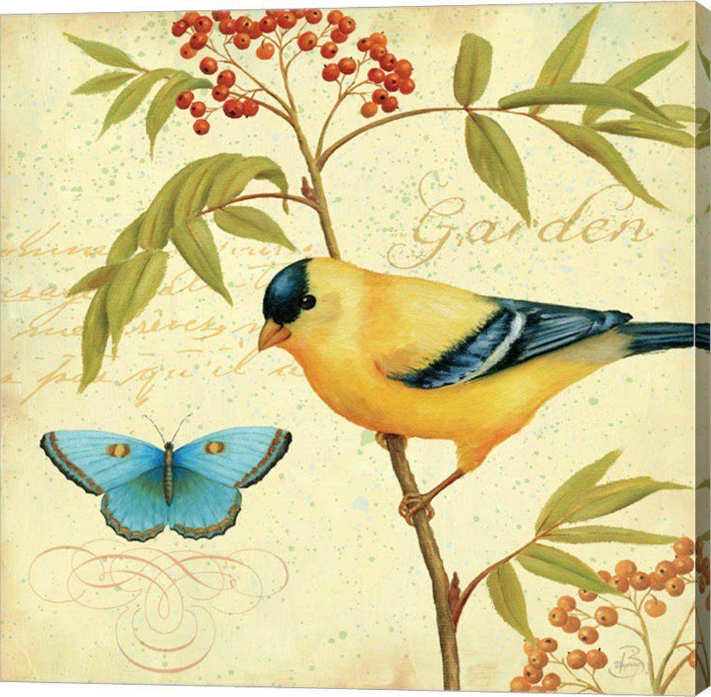 Garden Passion II by Daphne Brissonnet Canvas Art Wall Picture ...