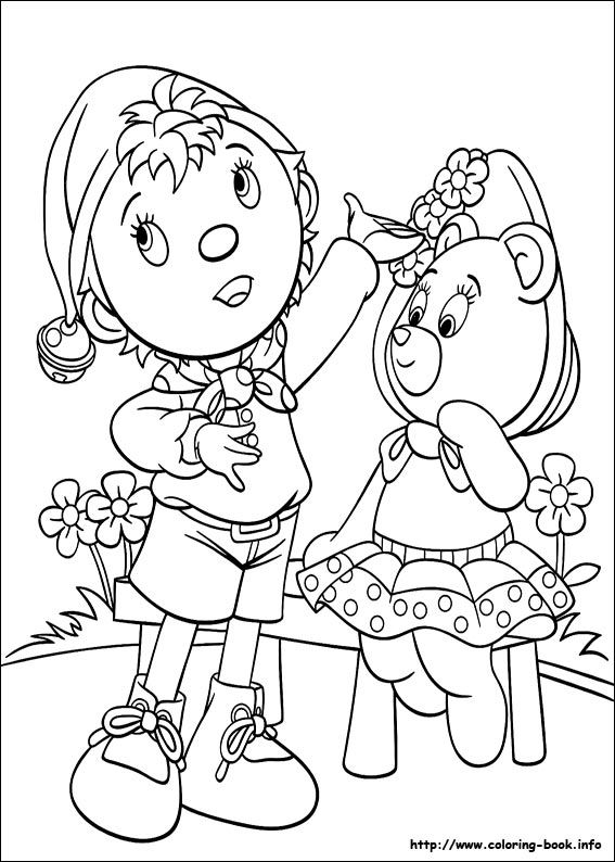 Noddy Coloring Picture Noddy Pinterest Noddy Colouring Pages