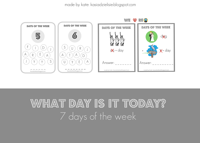 made by kate: Days of the Week
