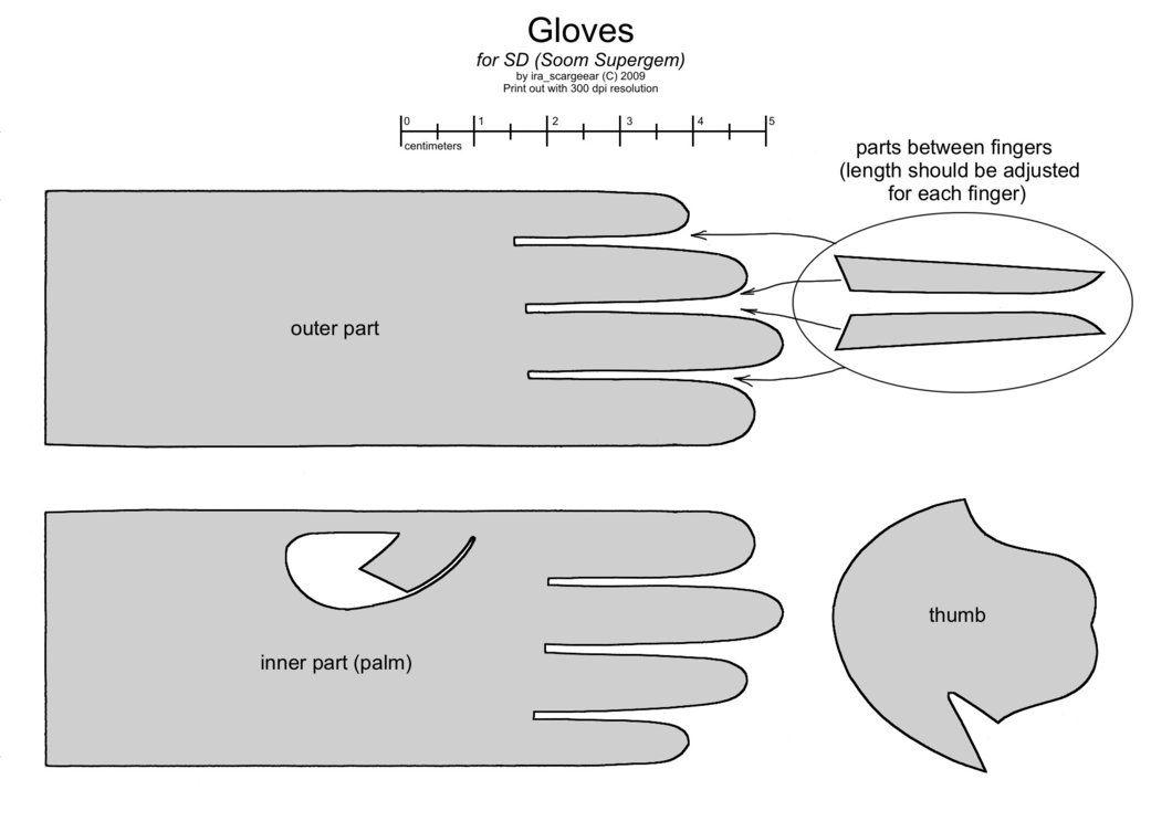 Male glove pattern by Scargeear | Syinspirasjon | Pinterest ...
