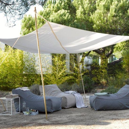 Improvisiertes Sonnensegel | Sonnenschutz Terrasse | Pinterest