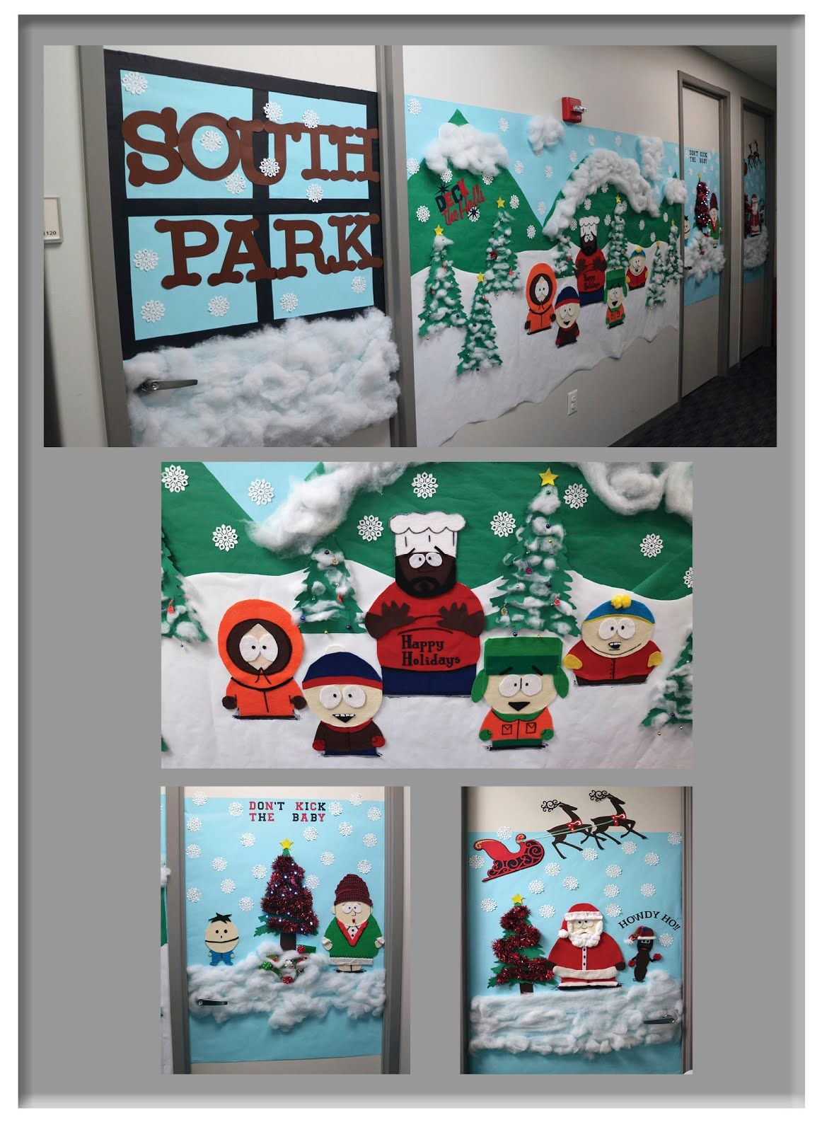 South Park Christmas.Christmas In South Park Door Decorating Contest Southpark