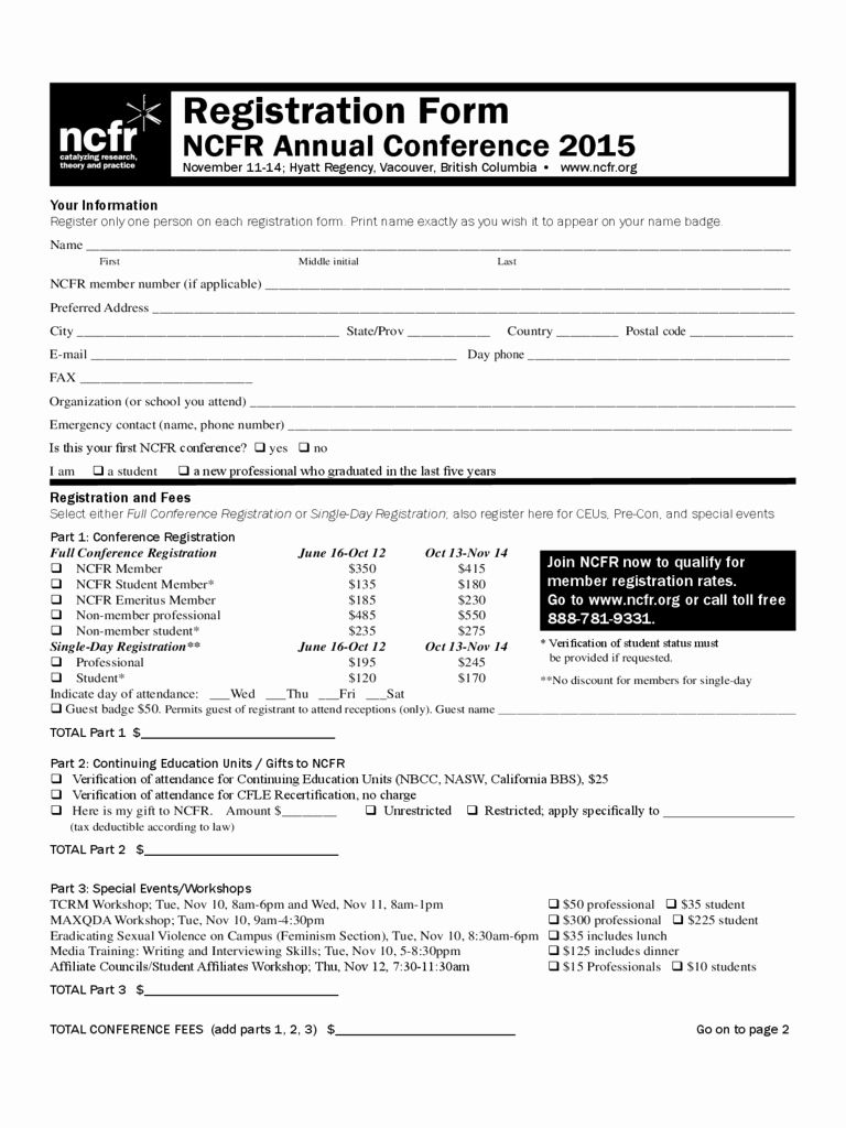 Conference Registration Form Template Word Best Of Conference Registration Form 1 Free Templates I Registration Form Event Registration Event Planning Template