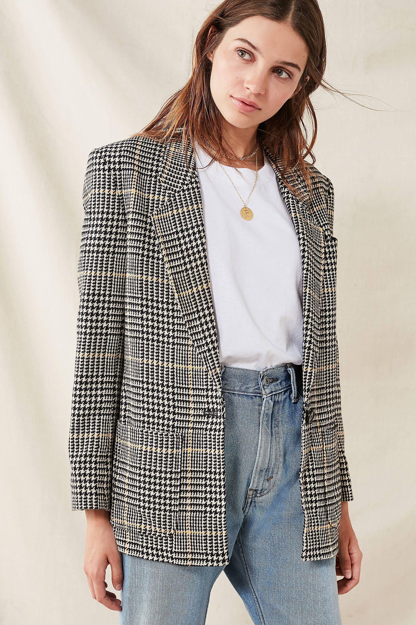 Vintage Oversized Blazer Fashion Dress Up Jeans Fashion Week Trends