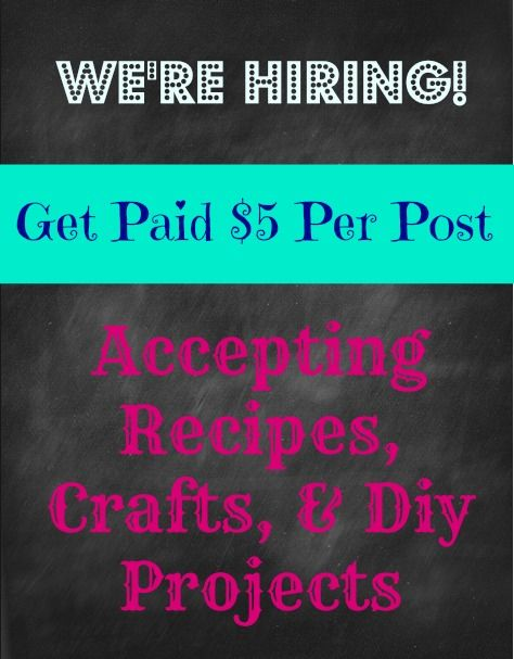 Get paid for your recipes, crafts, and Diy projects and have it featured on www.shortcutsaver.com.