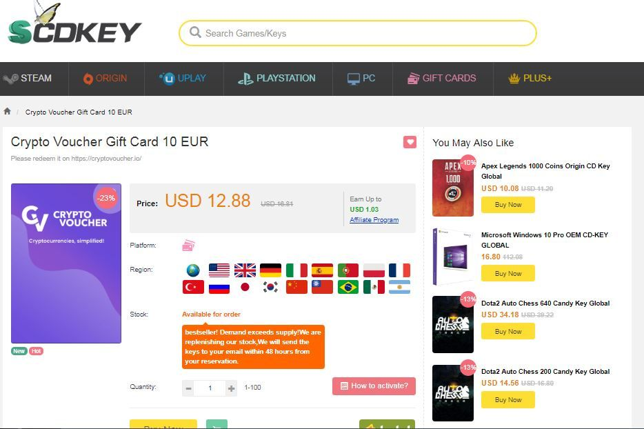 buy cryptocurrency voucher