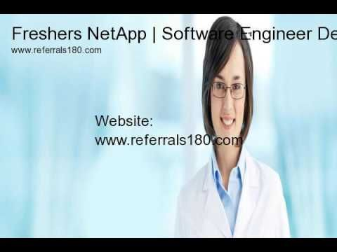Freshers NetApp hiring | Software Engineer Dev | Bangalore