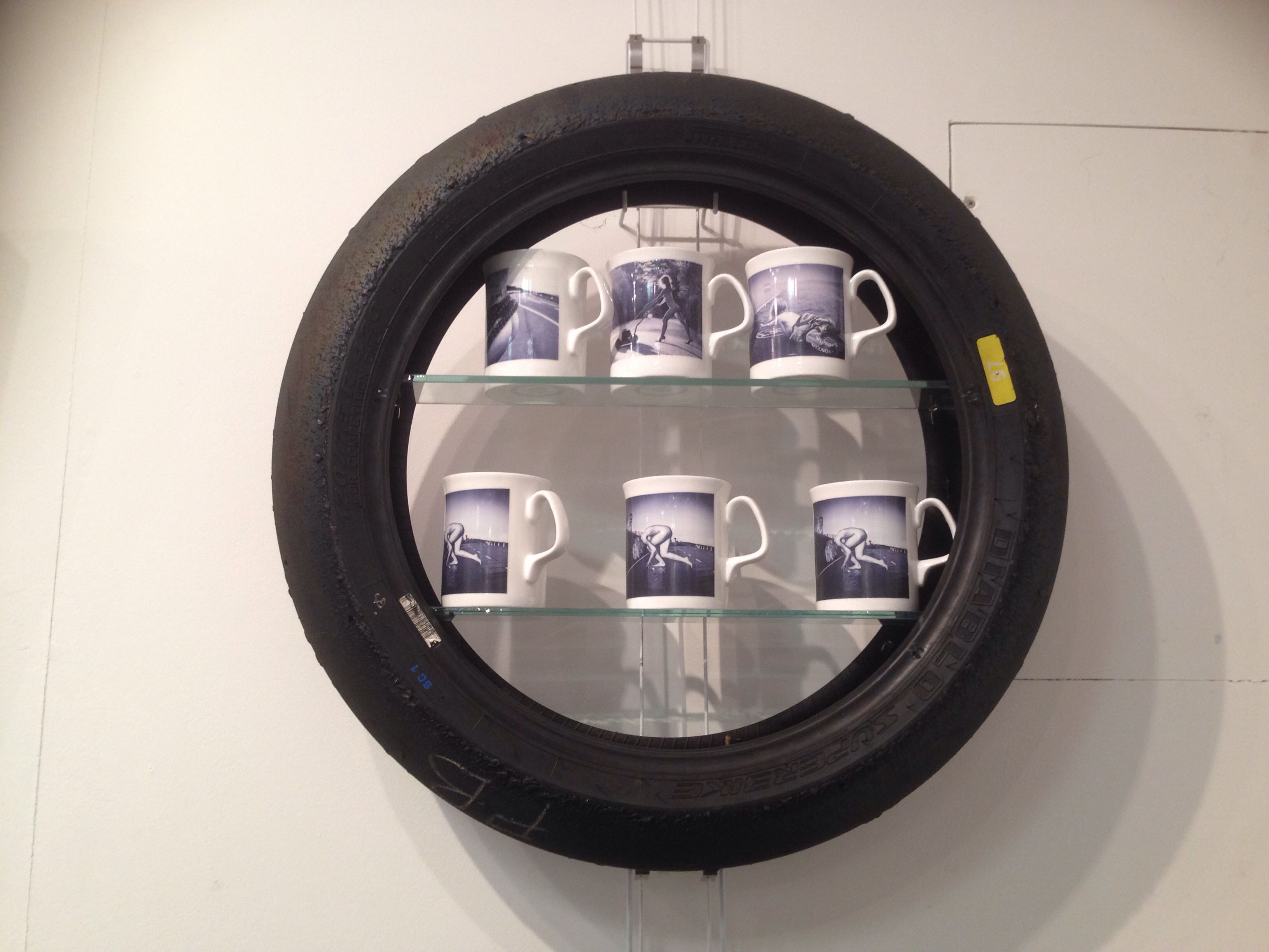 Old Motorbike Tyres Transformed Into Shelves Re Use Tire