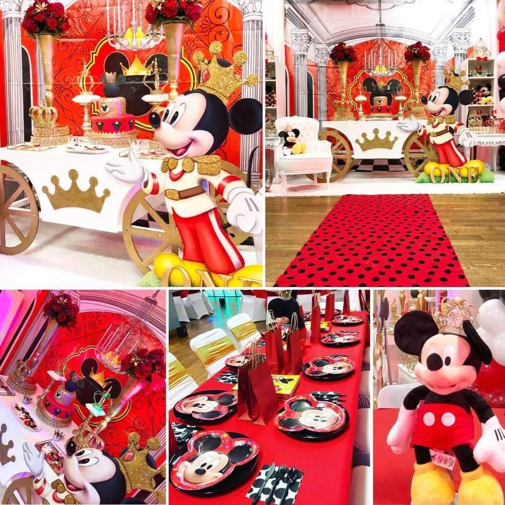 Mickey Mouse Royal King Birthday Party Ideas Fiesta de