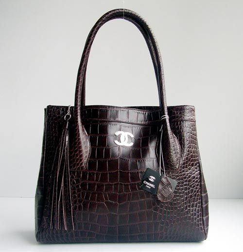 249 Chanel 88082 Deepcoffee Crocodile Handbag Bag Outlet Online