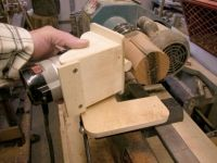 Lathe Router Jig-- lots of homemade tools on this site.