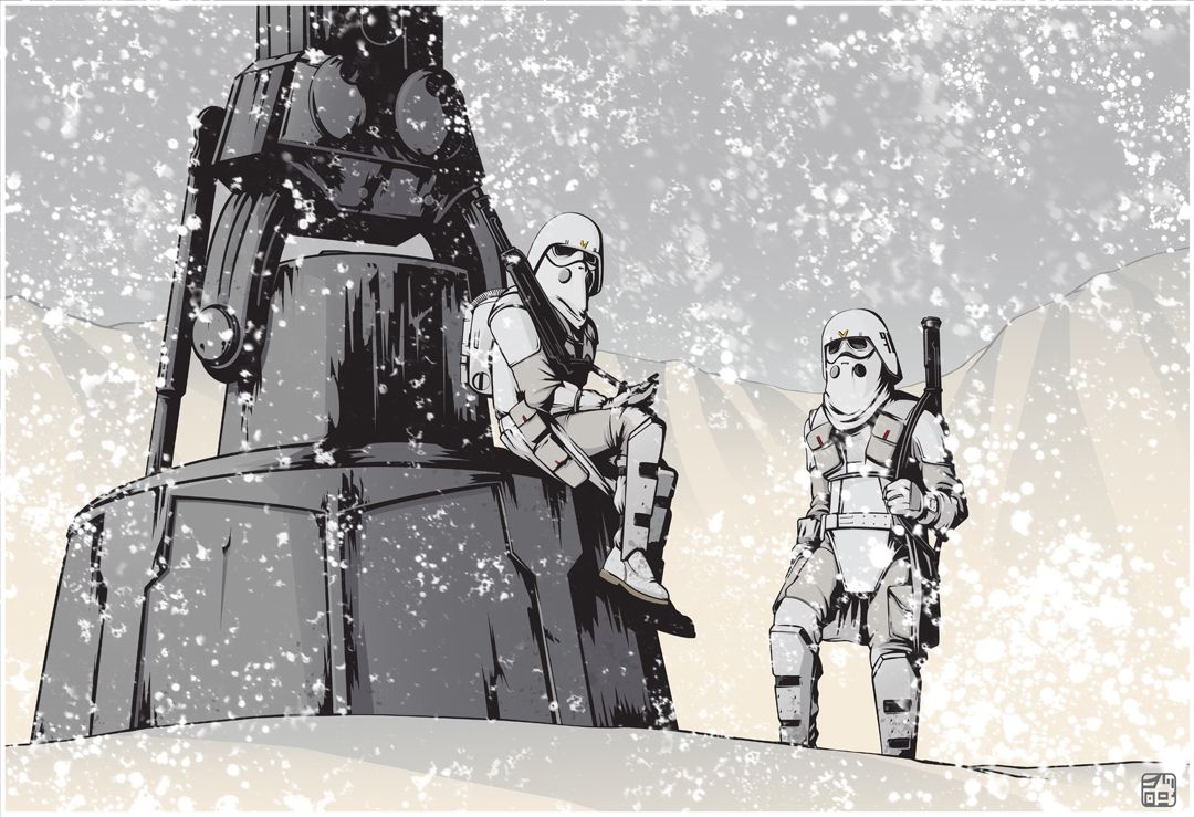 McQuarrie Concept Snowtroopers by jpc-art.deviantart.com on @deviantART