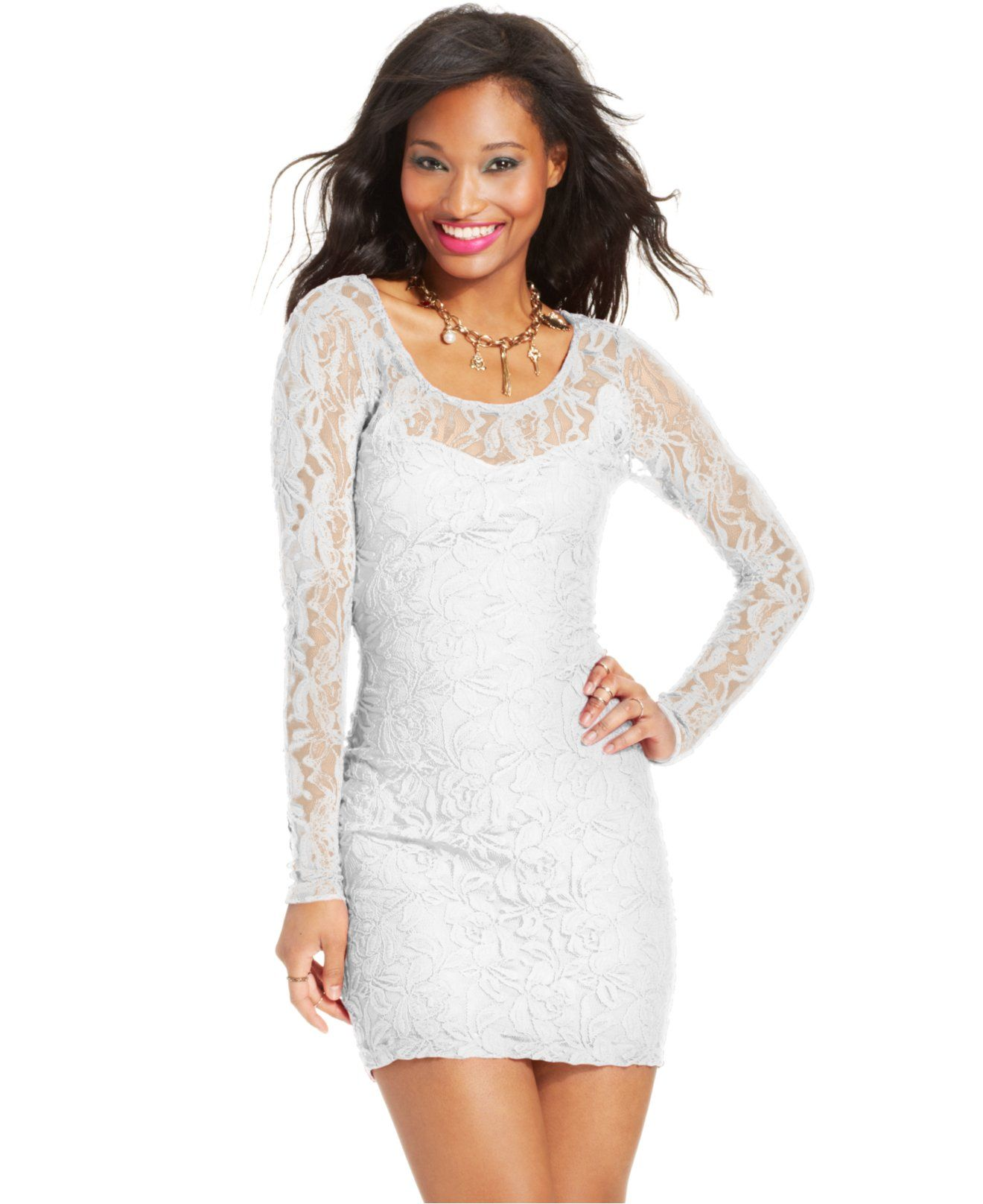 Material Girl Long Sleeve Lace Bodycon Dress Juniors Dresses Macy S Lace Bodycon Dress Long Sleeve Lace Bodycon Dress Junior Dresses [ 1616 x 1320 Pixel ]