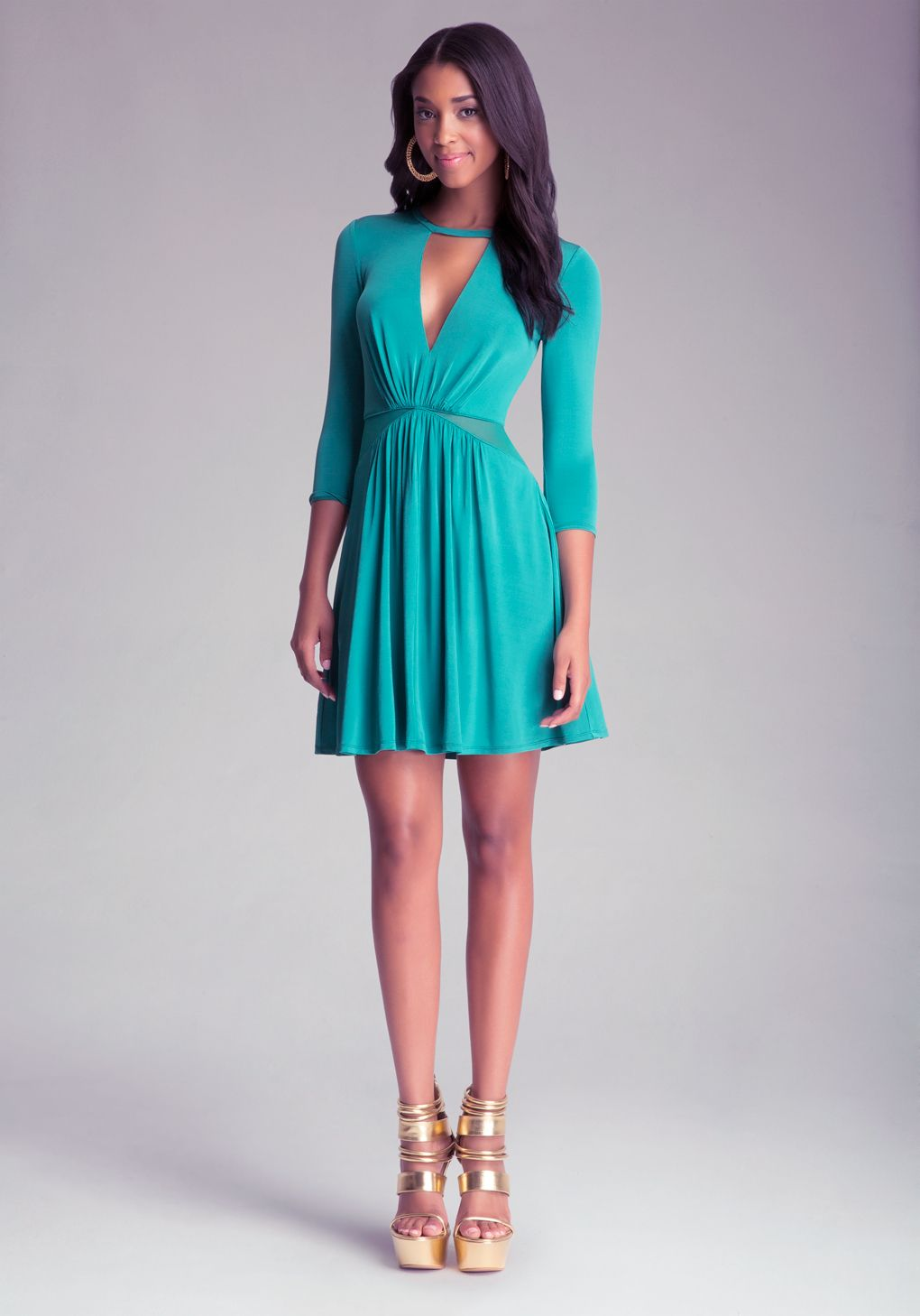 Bebe Insetwaist Dress in Blue | Lyst | Dresses | Pinterest | Bebe
