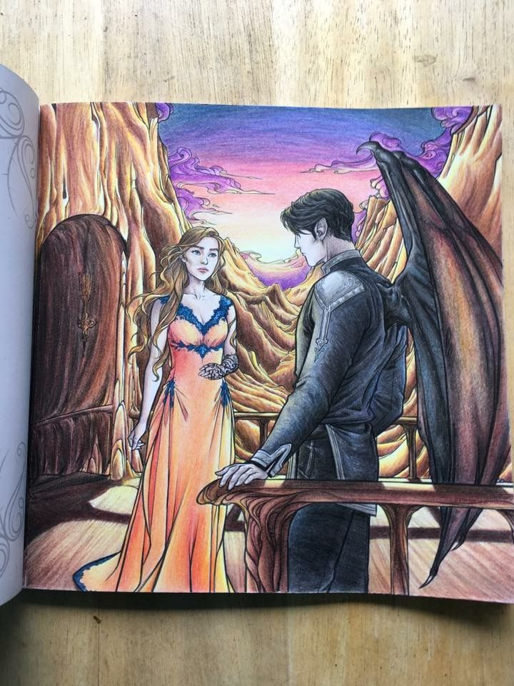 Feyre And Rhysand In The Acotar Coloring Book With Images